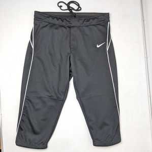 Nike black football pants, men's size large